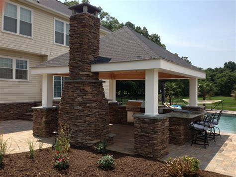 Outdoor Kitchen, Fireplace & Pool Deck