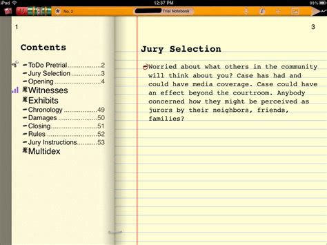 trial notebook template maclitigator litigation trial technology for the rest