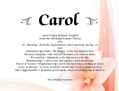 name meaning carol name meaning name creations