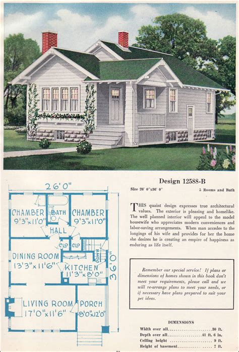 great small house plans small bungalow cottage vintage american residential
