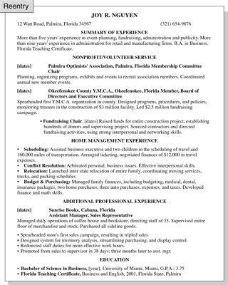 resume tips for rentering the workforce homemaker resume sle best professional resumes