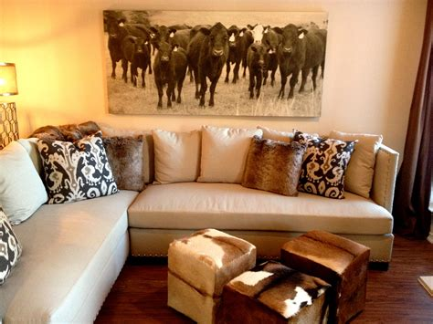 cowhide home decor the antiqued canvas print is a quirky piece that adds a