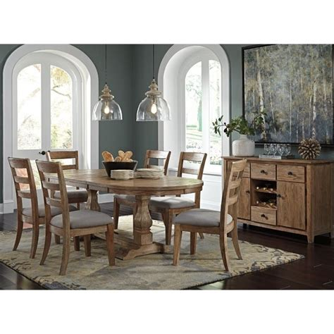 buffet l set danimore 8 oval dining set with buffet in light brown d473 45tb 01x6 60 pkg