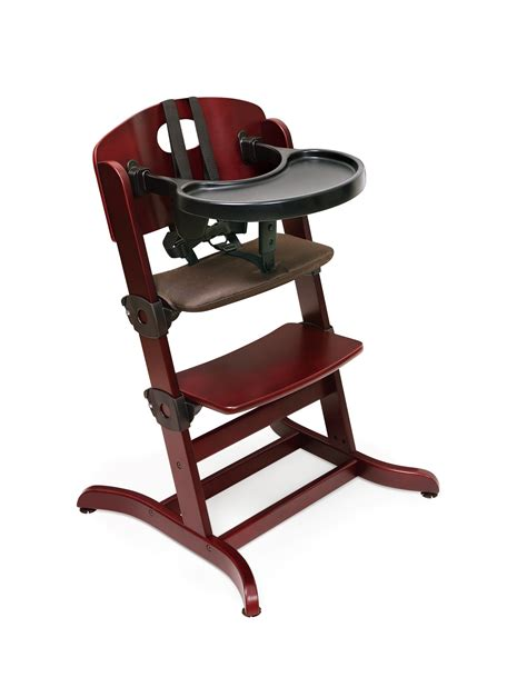 High Chairs by Badger Basket Evolve Wood High Chair With Tray By Oj