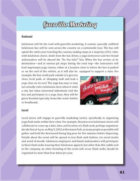 Mba Marketing Plan by Lululemon Mba Marketing Plan