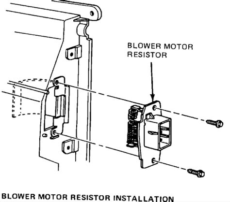 what does the blower motor resistor do what does the heater blower motor resistor do 28 images where do i find the blower motor