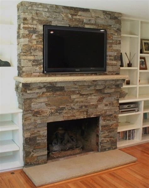 Faux Fieldstone Fireplace by Best 25 Faux Fireplaces Ideas On