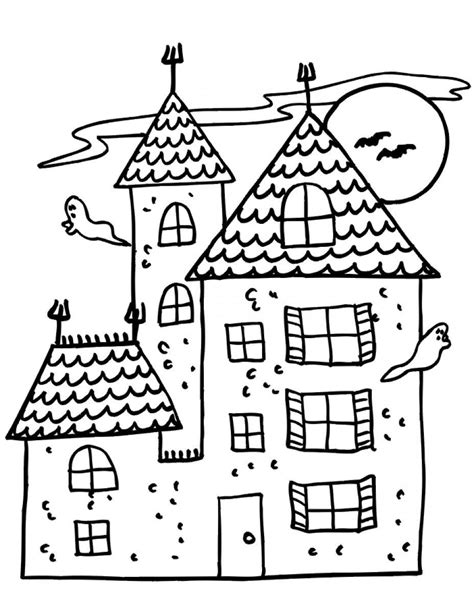 coloring pages of a haunted house free printable haunted house coloring pages for kids