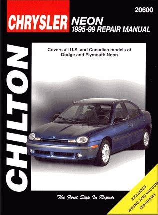 car repair manuals online free 1997 dodge neon head up display dodge neon plymouth neon repair manual 1995 1999 chilton 20600