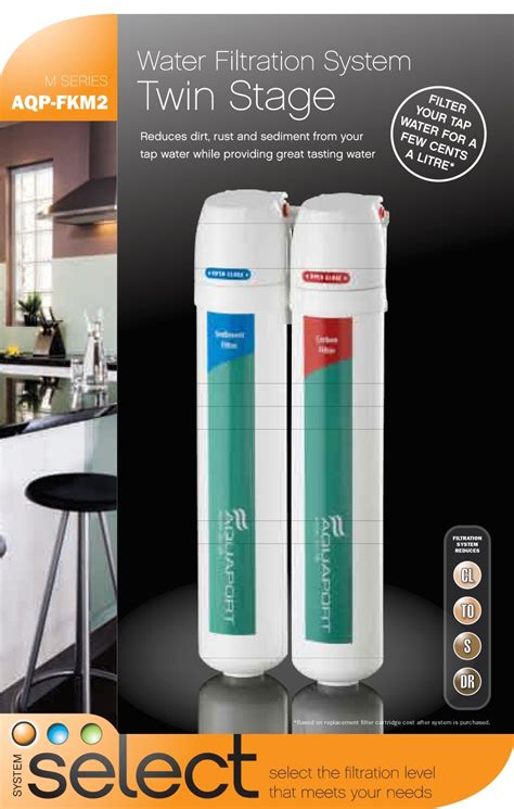 Aquaport M Series Twin Stage Water Filtration System