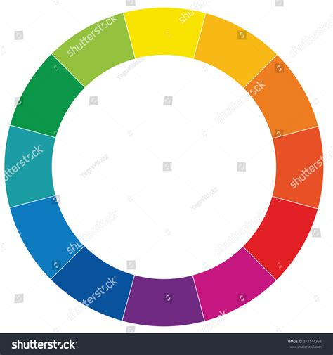 colored section color rings rings divided into twelve stock vector