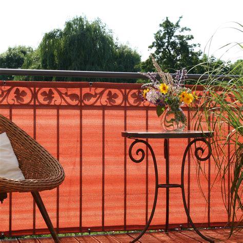 balkonbespannung pe classic terrakotta sichtschutz weltde