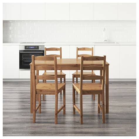 ikea dining room table and 4 chairs jokkmokk table and 4 chairs antique stain ikea