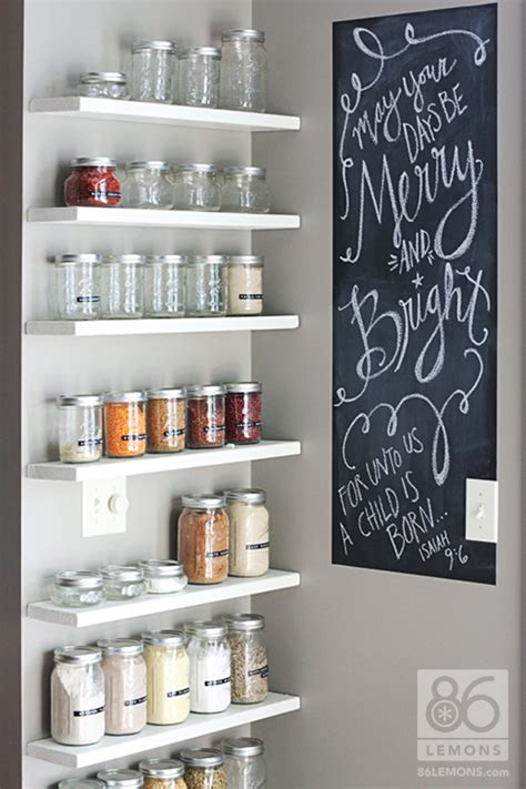 Open Pantry Storage Ideas by Diy Open Pantry Install Floating Shelves And Use Canning
