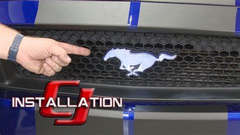 mustang light up pony emblem 2015 2018 gt ecoboost v6 mustang ford pony emblem front