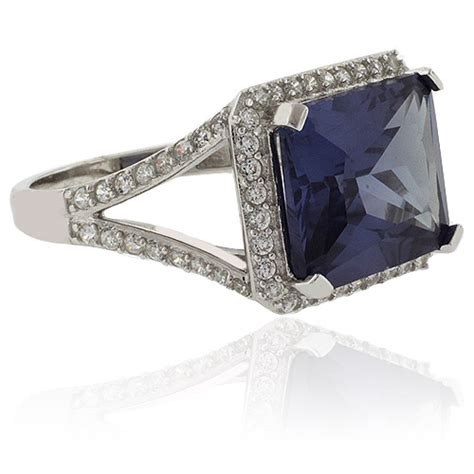 emerald cut color change alexandrite sterling silver ring