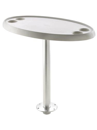 boat table base plate vetus oval table 76 x 45 cm with removable pedestal and