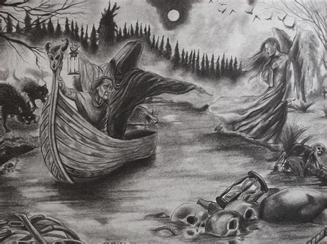the river of deceit drawing by amber stanford