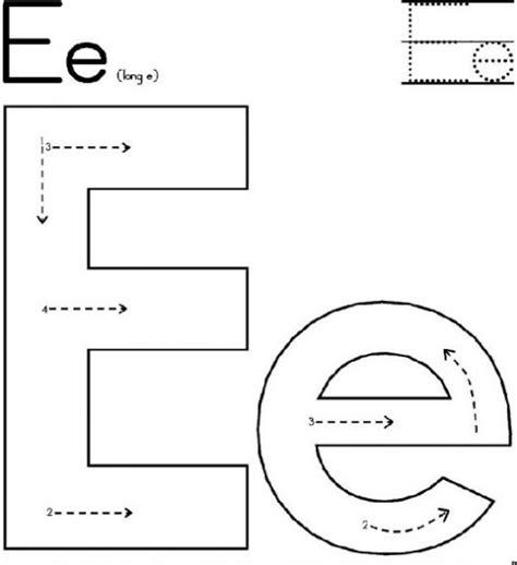 Letter A Worksheets For Toddlers free printable letter e worksheets for kindergarten