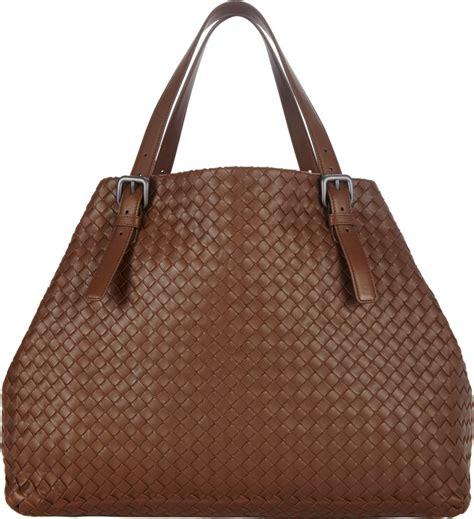 Bottega Veneta Oversized Intrecciato Tote Purses Designer Handbags And Reviews At The Purse Page by Bottega Veneta Large Intrecciato Tote In Brown Lyst