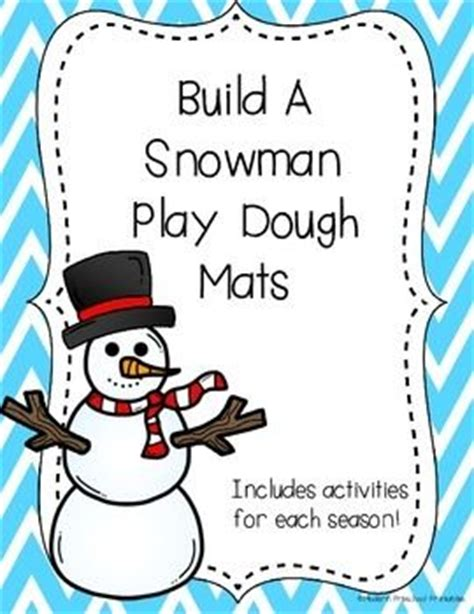 printable winter playdough mats snowman play dough mats preschool printables free