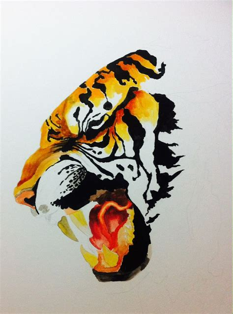 watercolor tiger tattoo watercolor tiger by kait samuels
