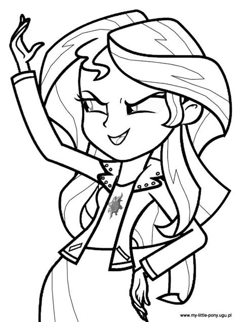 pony coloring page pdf kolorowanki my little pony equestria girls z applejack i
