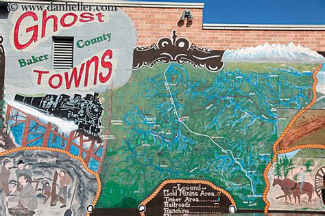 map of oregon ghost towns ghosttown map mural 1