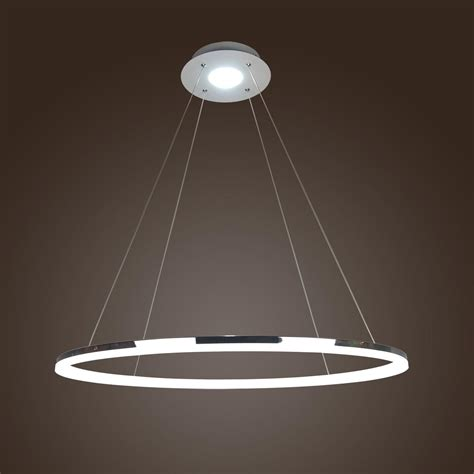 Contemporary Pendant Lighting Fixtures Modern 1 Ring Acrylic Pendant Light Ceiling L Led Chandelier Lighting Ebay