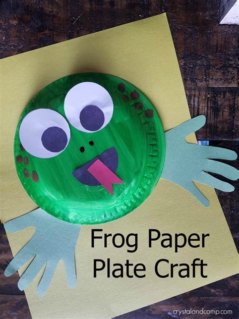 Frog Craft Paper Plate - f is for frog craft