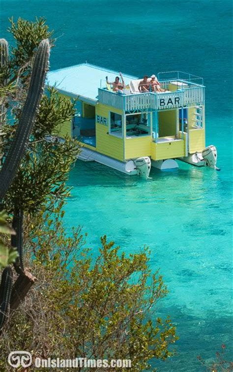 boat parts usvi st john s only floating bar angel s rest anchored up in