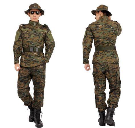 Seragam Militer acu seragam tentara pria kamuflase militer seragam acu