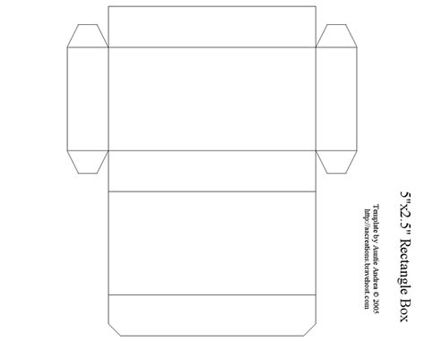 how to make a paper box template 7 best images of printable rectangle box rectangle box