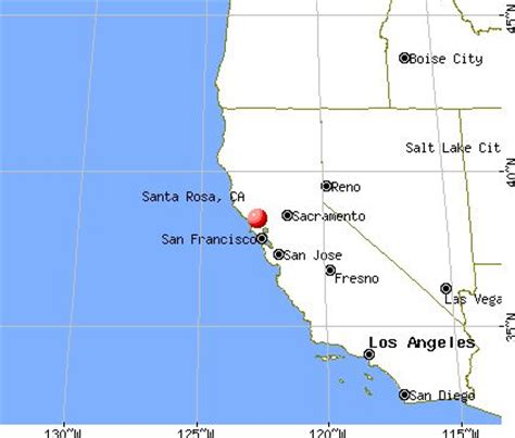 where is santa rosa california on the map of california santa rosa california map my california