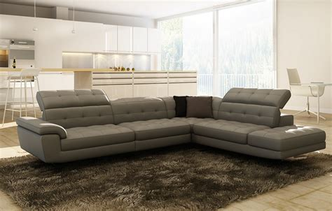 casa italia sofa divani casa veneto modern grey italian leather sectional sofa