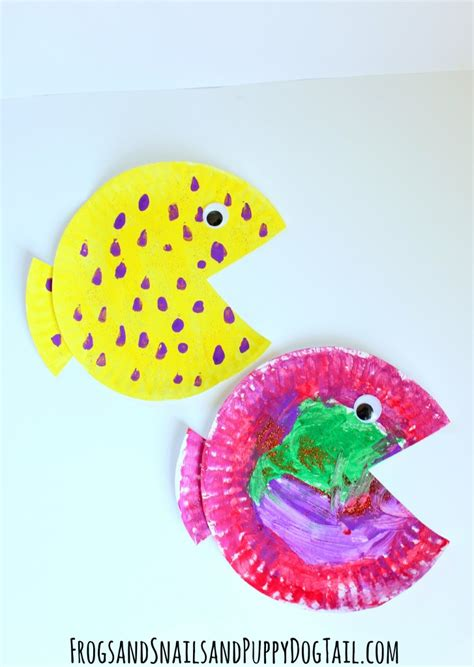 Crafts Out Of Paper Plates - fish paper plate craft fspdt
