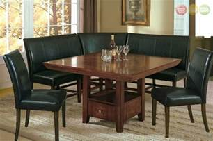 Dining Room Set With Bench breakfast nook dining room set table corner bench seating amp 2 chairs