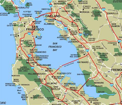 san francisco bay us map large map of san francisco michigan map