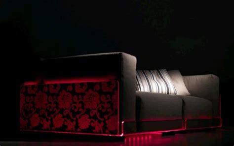 led couch versatile sofa with built in mood led lights asami light