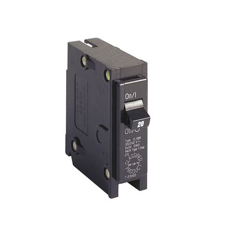 broken circuit breaker eaton 20 1 in single pole type cl circuit breaker