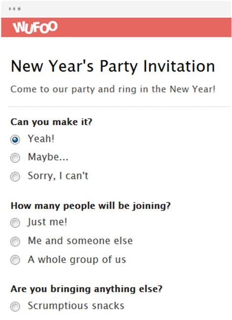 New Year Invitation Letter Exle Form Template Wufoo