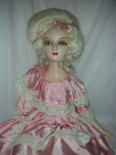 bed dolls vintage pompadour french style boudoir doll bed dolls from charlottewebcollectibles on