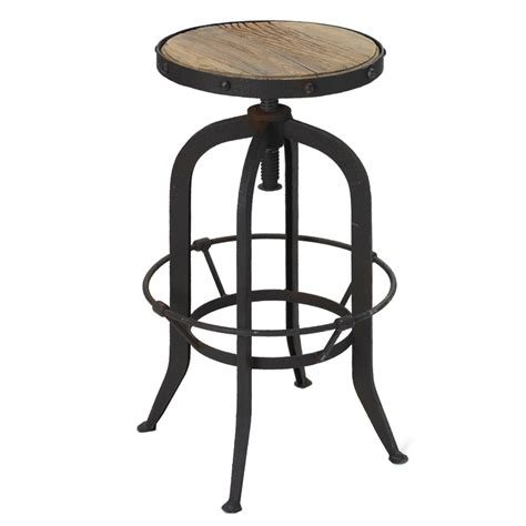 Wood Metal Bar Stools black metal and wood bar stool