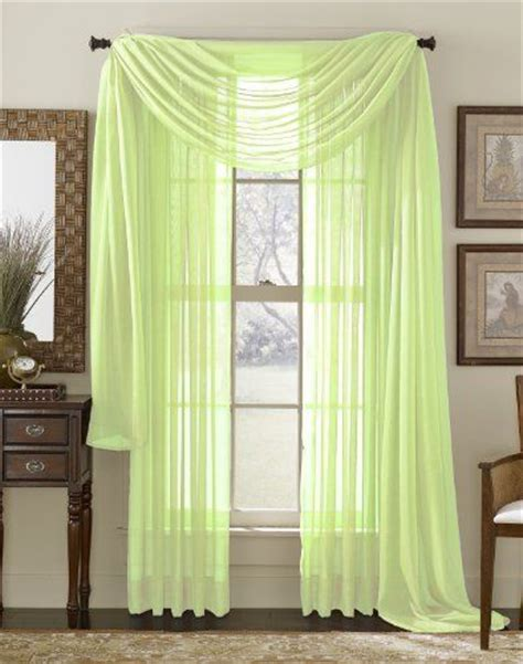 long sheer curtain panels 84 quot long sheer curtain panel lime by moshells 4 99