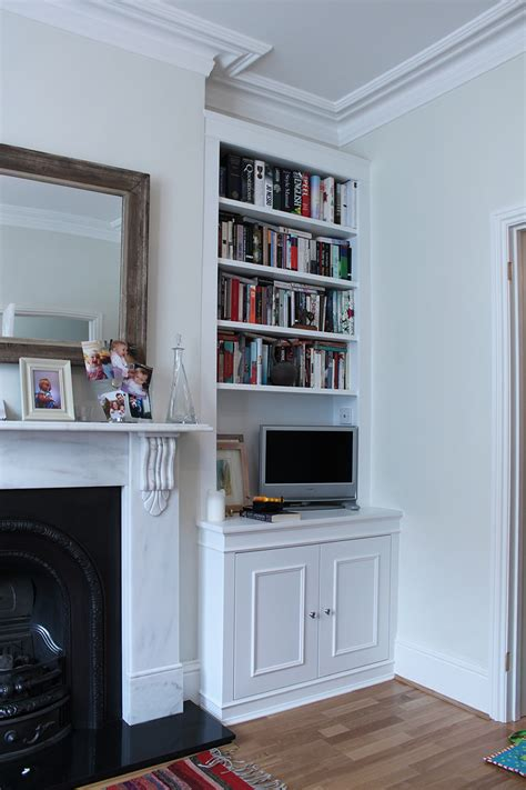 Inbuilt Bookshelf Pair Of Traditional Alcove Bookcase Either Side The