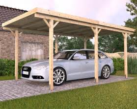 Wood Carport Kits Freestanding Solid Wood Carport Flat Roof Kvh 3000x5000mm