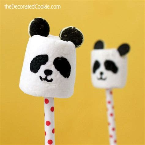 panda crafts for panda marshmallow pops and 29 other treats and crafts