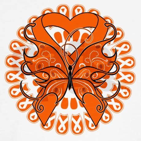 kidney cancer ribbon color kidney cancer butterfly sleeve t shirt cancer