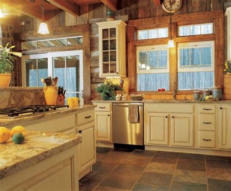 25 best ideas about log home kitchens on log
