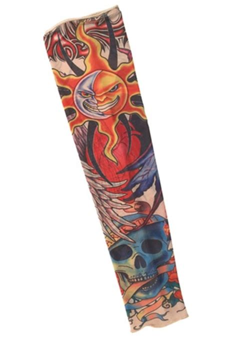 rock star tattoo rock sleeve pirate costume accessory